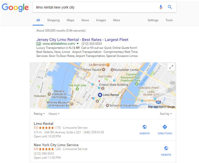 example search in nyc from good citations
